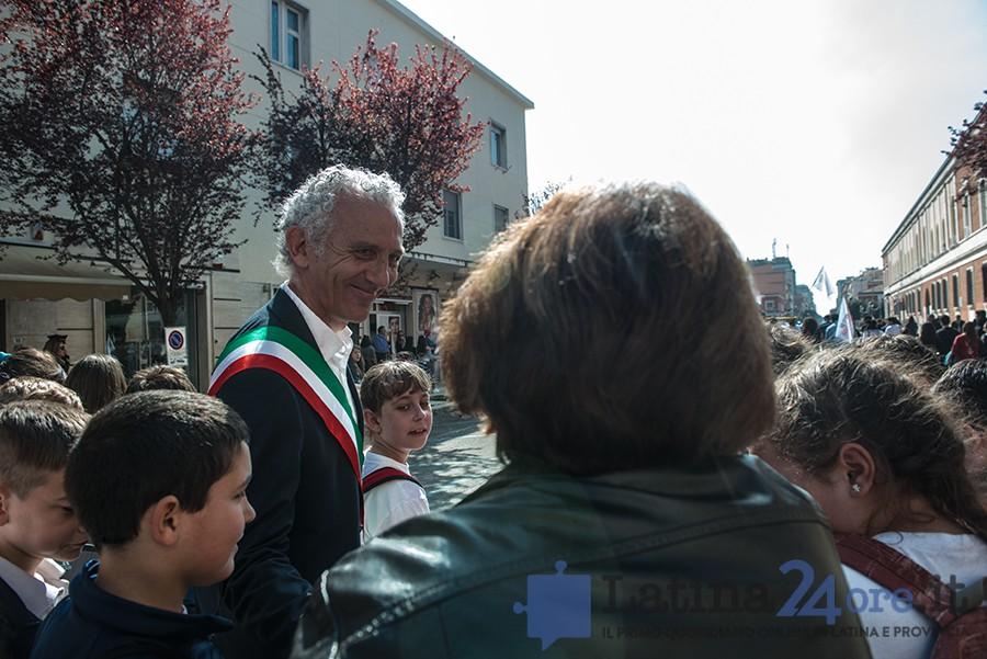Damiano Coletta manifestazione Latina
