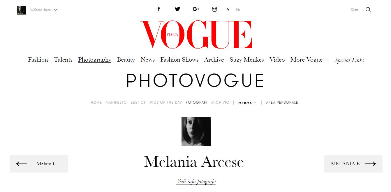 portfolio su Vogue
