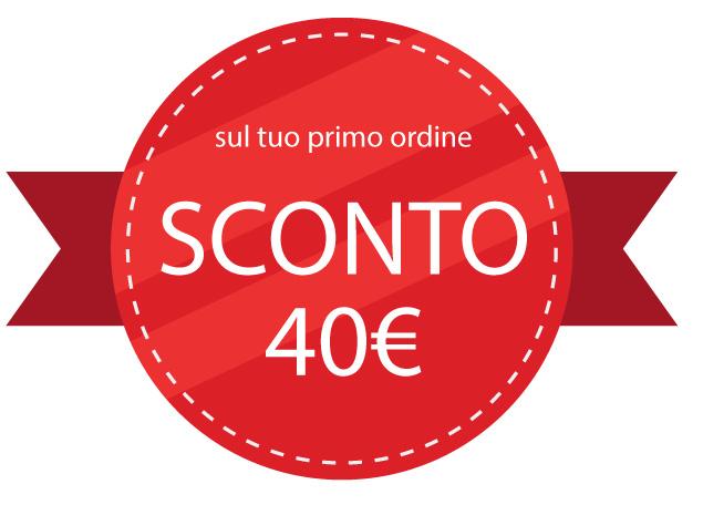 sconto di quaranta euro sul primo ordine servizio fotografico ecommerce