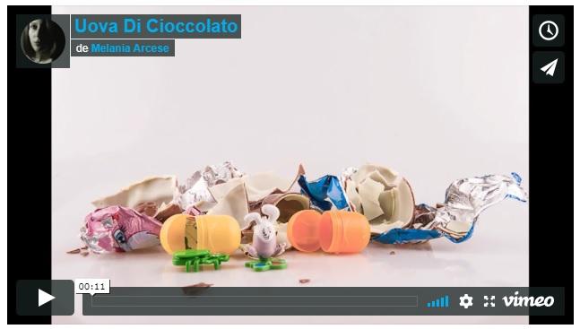 stop motion di melania arcese sulle uova di cioccolato